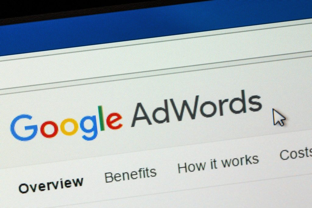Google AdWords being shown